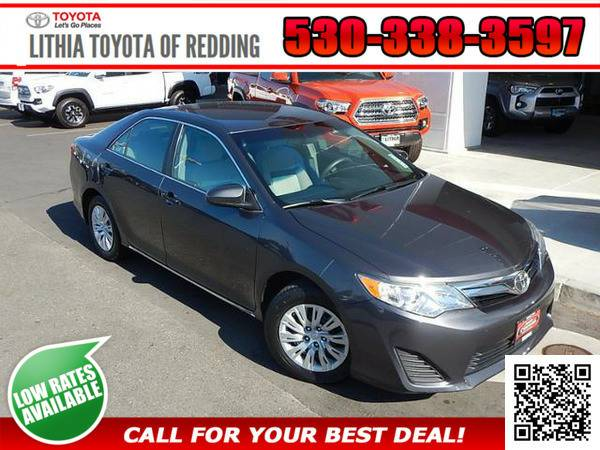 2012 TOYOTA CAMRY LE GRAY