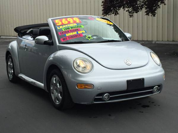 2003 VW Beetle CONVERTIBLE!! Silver with Black Leather