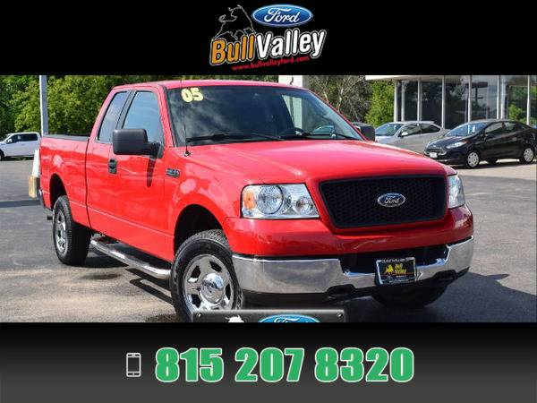 2005 Ford F-150 F150 Red