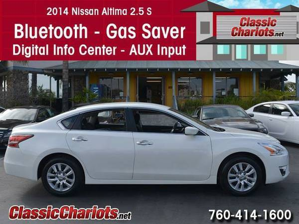 2014 Nissan Altima 2.5 S - Clean CarFax - 4 New Tires - Power Seat - B