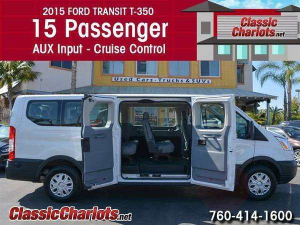 2015 Ford Transit Wagon 350 XLT - 15 Passenger - Rear AC - Cruise Cont