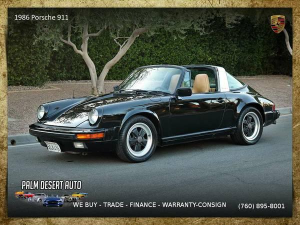 1986 Porsche 911 Targa 915 Gearbox 3.2 Liter Convertible in EXCELLENT