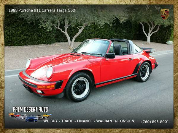This 1988 Porsche 911 Carrera Targa G50 COA Convertible is VERY CLEAN!
