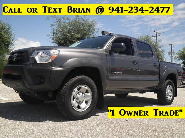 2015 Toyota Tacoma 1 Owner Double Cab-Bluetooth-Automatic