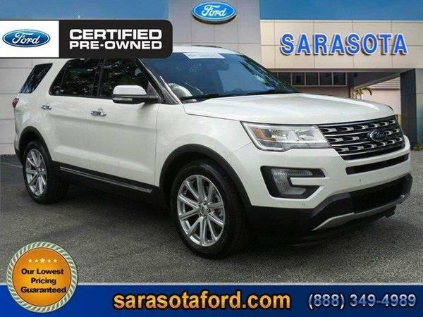 2016 *Ford Explorer* Limited - (White Platinum Metallic Tri-Coat)...