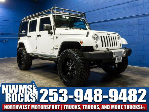 Lifted 2014 *Jeep Wrangler* Unlimited Sahara 4x4 - Premium Wheels!...