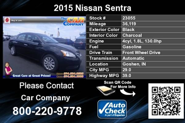 2015 Nissan Sentra *36k Miles*