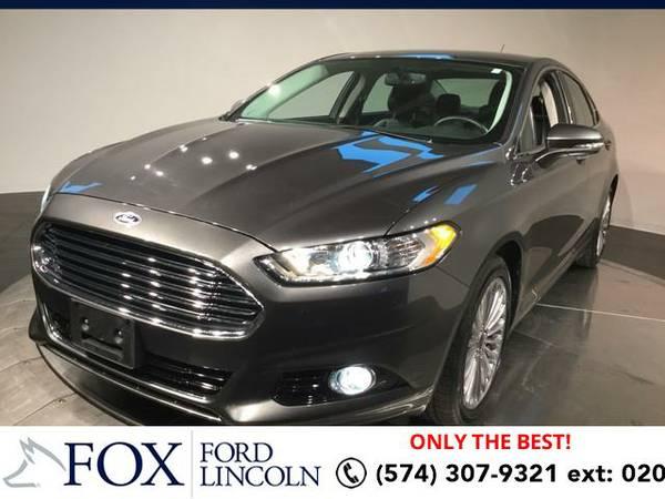 2016 *Ford Fusion* 4DR SDN TITANIU - (GRAY) Hablamos espanol