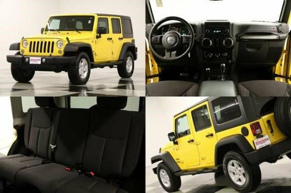 *WRANGLER 4WD SPORT - LIKE NEW* 2015 Jeep *UNLIMITED - LOW MILES*