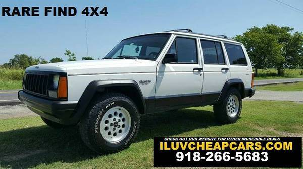 1996 JEEP CHEROKEE 4X4 - LOW MILES COLD A/C !!!