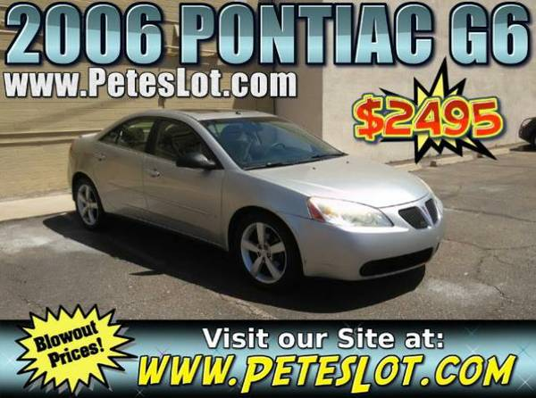 2006 Pontiac G6 - Must See G6 For Sale - Like New