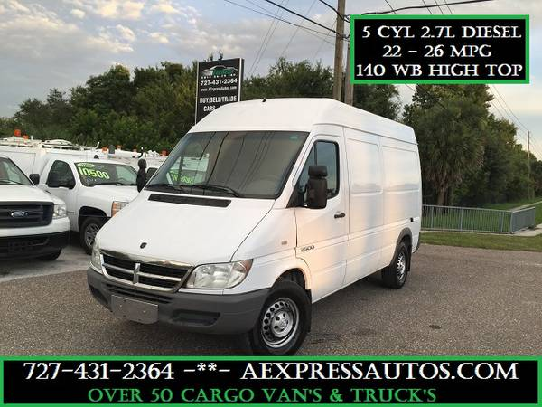 2005 DODGE SPRINTER 2500 5 CYL 2.7 L DIESEL HIGH TOP 140 WB