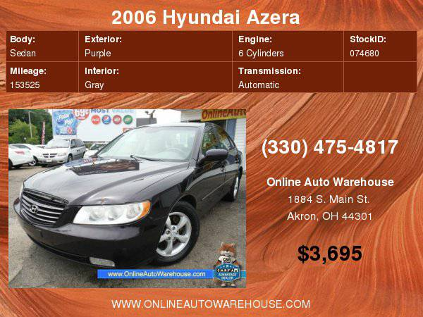 2006 Hyundai Azera SE LOADED NICE CLEAN WARRANTY CHEAP