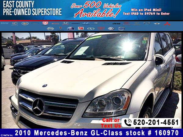 2010 Mercedes-Benz GL-Class GL450 Stock #160970