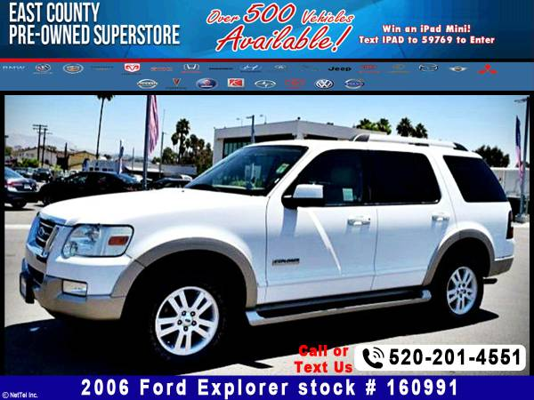 2006 Ford Explorer Eddie Bauer Stock #160991