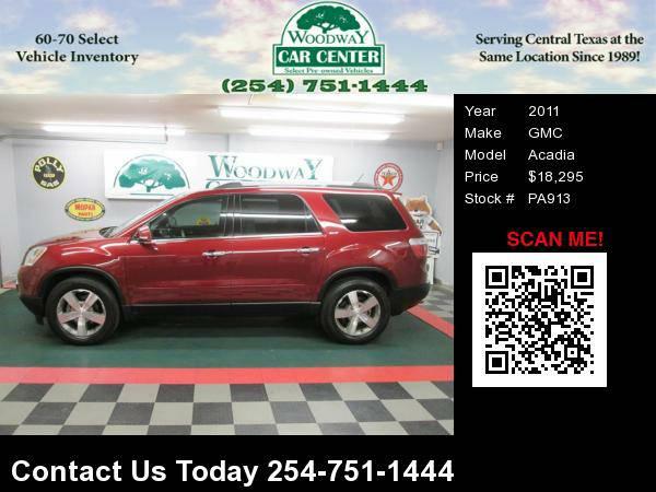 2011 GMC Acadia SLT AWD, Leather, 3rd Row Seating