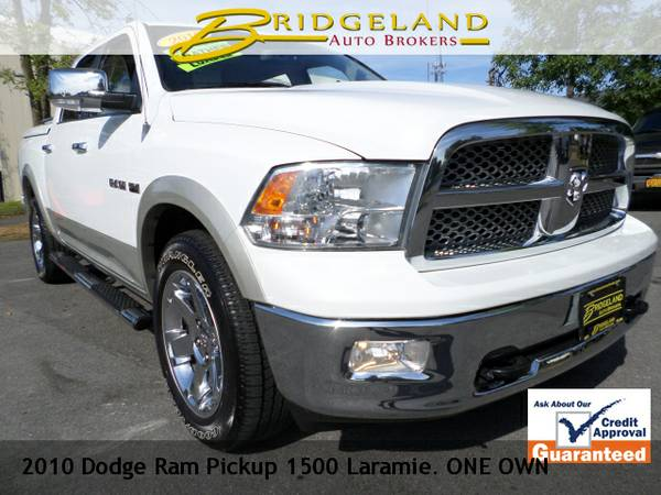 2010 Dodge Ram Pickup 1500 LARAMIE ONE OWNER NAVIGATION, DVD. MOON...