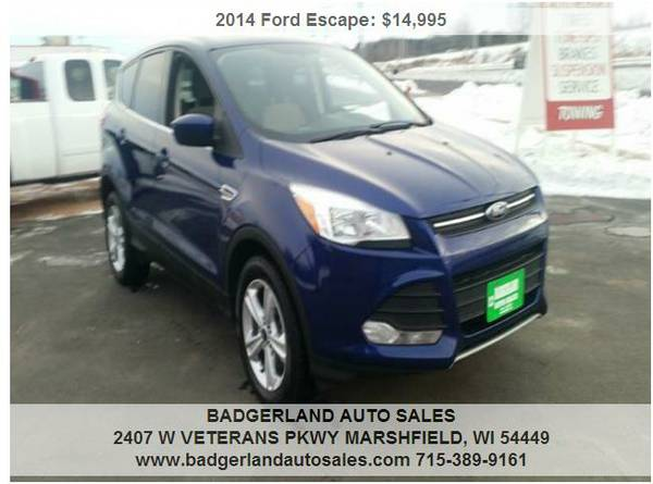 >>2014 Ford Escape AWD SE Blue On Sale for $14,300 >>