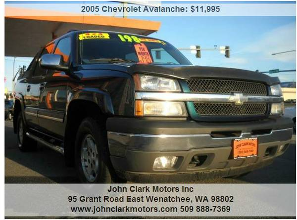 2005 CHEVY AVALANCHE 4X4...LOW MILES...LOW PRICE