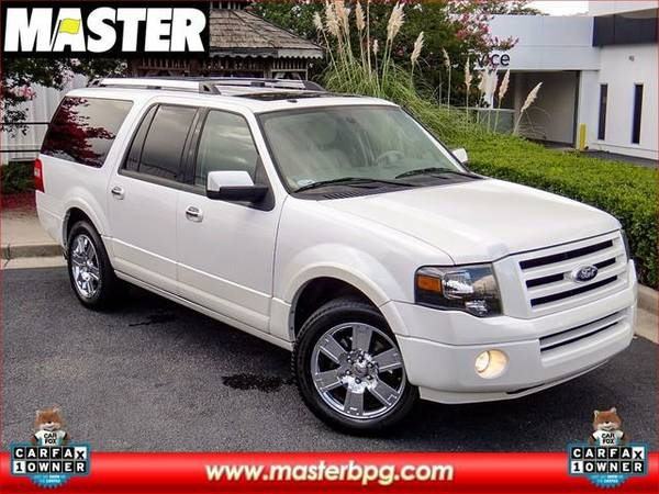 2010 *Ford EXPEDITION EL* LIMITED - (White Platinum Metallic Tri-Co)