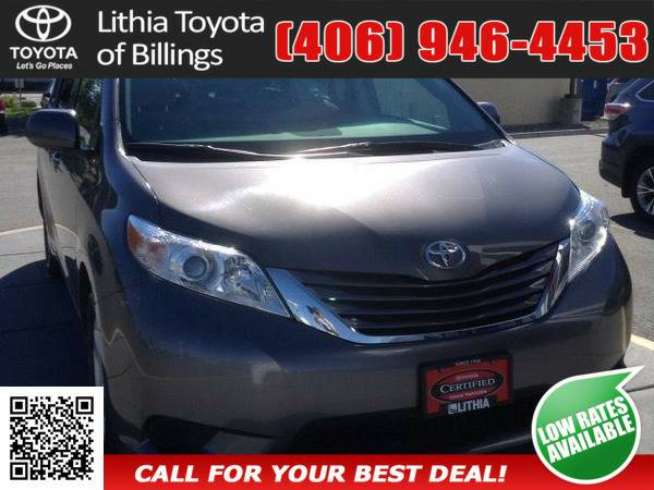 *2015* *TOYOTA SIENNA* *LE* *GRAY*