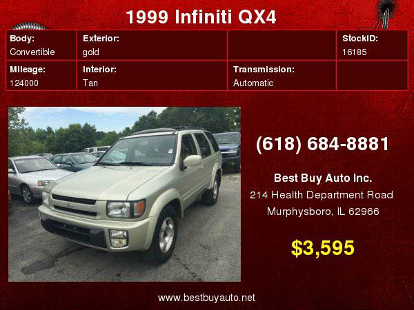 1999 Infiniti QX4 4dr 4WD SUV Call Steve or Dean at