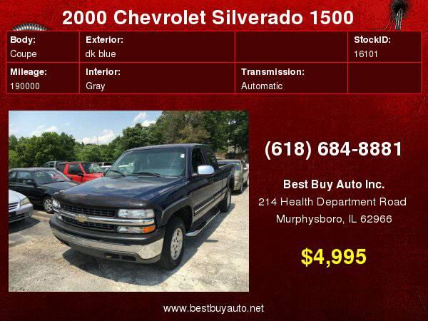 2000 Chevrolet Silverado 1500 LS 3dr 4WD Extended Cab SB Call Steve...