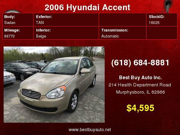 2006 Hyundai Accent GLS 4dr Sedan w/Automatic Call Steve or Dean at