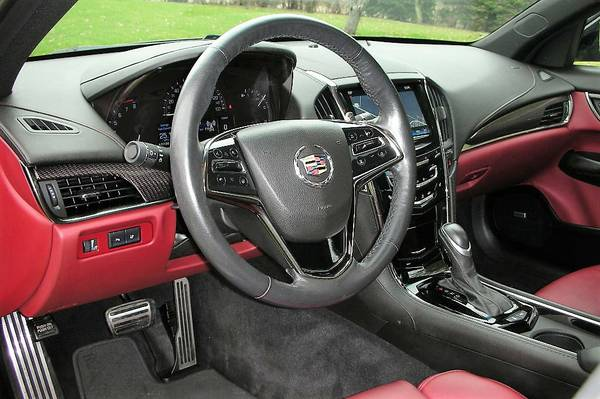 2013 Cadillac ATS AWD 3.6L Performance- Black w/ Morello Red Leather