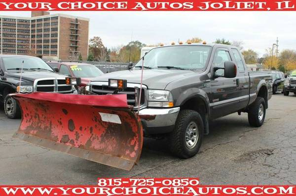2004 FORD F350 SUPER DUTY XLT 4X4 WESTRN PLOW TURBO DIESEL LTHR D22733