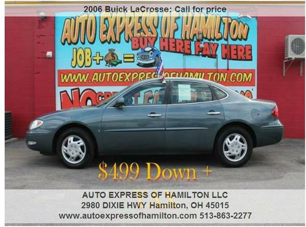 2006 Buick LaCrosse $499 Down+TAX BUY HERE PAY HERE