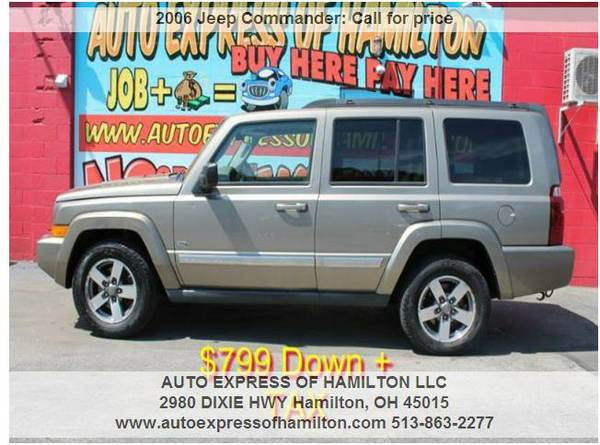 2006 Jeep Commander $799 Down+TAX BUY HERE PAY HERE