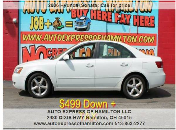 2006 Hyundai Sonata $499 Down + TAX BUY HERE BUY HERE