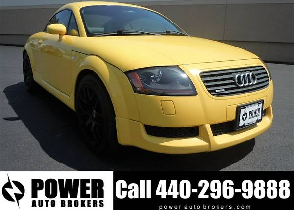02 Audi TT 225hp Quattro 6-Speed Imola Yellow Coupe