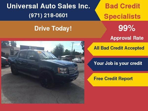 2007 Chevrolet Avalanche LTZ 1500 4dr Crew Cab 4WD SB No Credit, Bad...