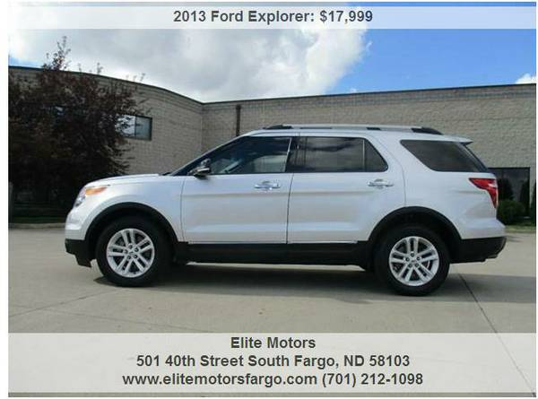 2013 Ford Explorer XLT, 4WD, 7-Pass., Sharp!