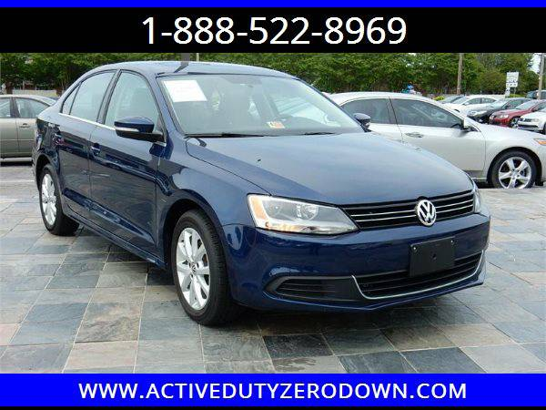 2013 VOLKSWAGEN JETTA SE= - MILITARY FINANCING - BAD CREDIT OK