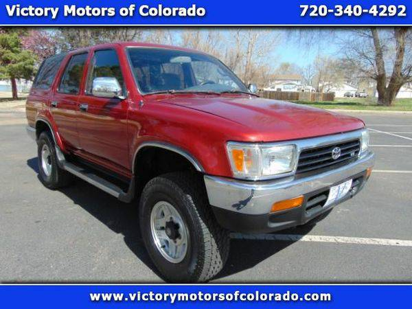 1992 *Toyota* *4Runner* SR5 V6 4WD - Over 450 Vehicles to Choose From!