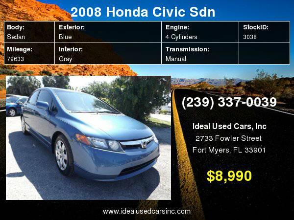 2008 Honda Civic Sdn 4dr Man LX