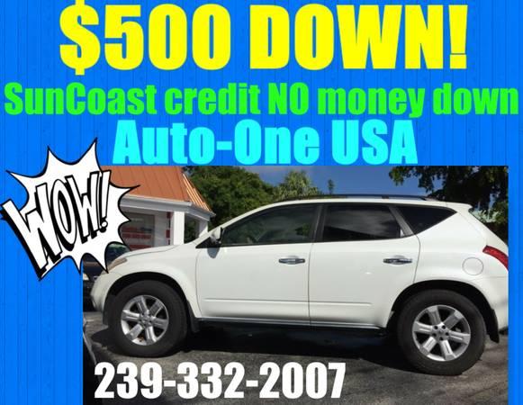 2007 NISSAN MURANO SL*$500 DOWN!*YOU WORK,YOU DRIVE!