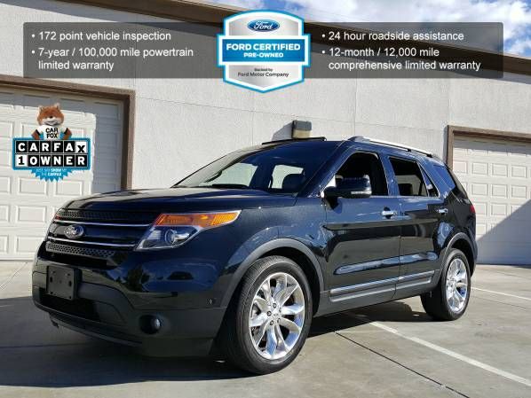 2013 FORD EXPLORER LIMITED 4WD LEATHER DUAL MOON NAVIGATION PREMIUM!