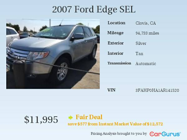 * 2007 Ford Edge SEL * Great Value!! Ask For Doug!!