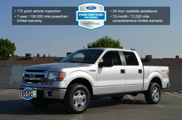 2013 FORD F150 XLT 4X4 5.0 V8 CREW CAB SILVER LOW MILES SUPER CLEAN!