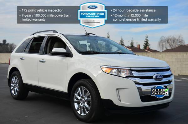 2013 FORD EDGE LIMITED SPORT CROSSOVER V6 LEATHER SONY SOUND! WHITE