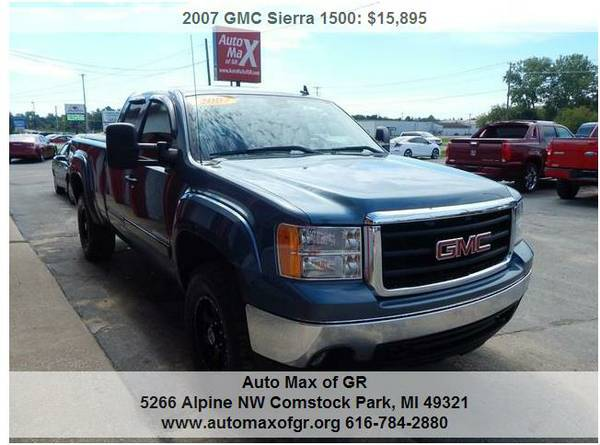 2007 GMC Sierra 1500 SLE Ext Cab 4WD ! 3.5 LIFTED TRUCK ! 33 TIRES !