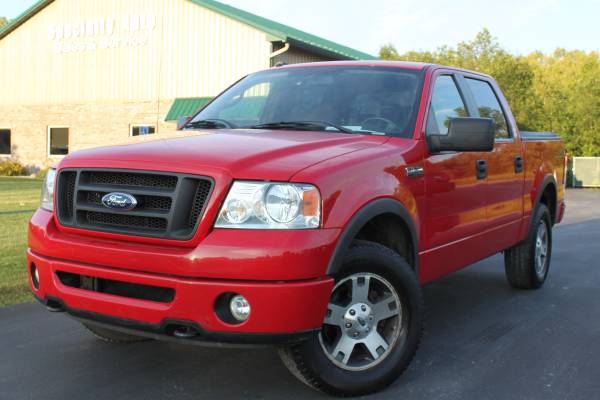 2008 Ford F150 FX4 4WD Pick-Up! Only 108k Mi! Red! RUST FREE! 1 OWNER!