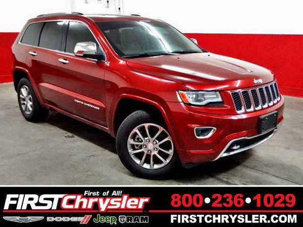 2014 *Jeep Grand Cherokee* Overland-4x4 - Jeep Deep Cherry Red...
