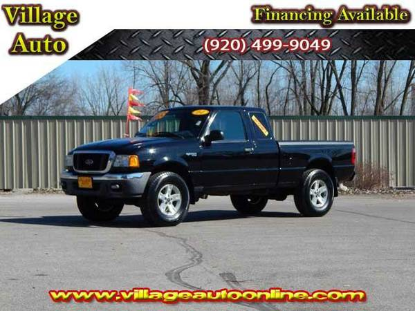 2004 *Ford Ranger* Super Cab XLT 4x4 - Black-TRADE INS WELCOME!