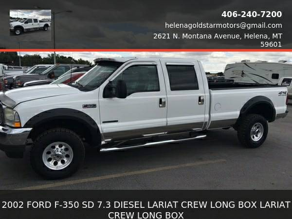 2002 Ford F-350 SD 7.3 DIESEL LARIAT CREW LONG BOX- LOOK ITS A 7.3...