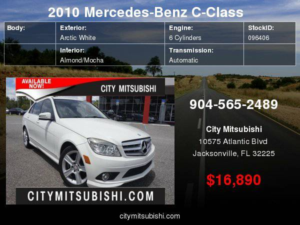 2010 Mercedes-Benz C-Class C300 Sport ***Easy Financing!!